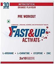 Fast&Up Activate - Caffeine Free Pre-Sports/Pre-Workout Supplement (30 Effervescent Tablets, Orange Flavou