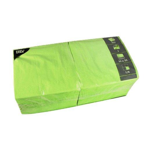 Tissueservietten apfelgrün (250 Stück), 33 x 33 cm, 3-lagig, 1/4-Falz, farbenfrohe Serviette für Gastronomie, Haushalt oder Feste, aus FSC-zertifiziertem Gewebe, #81656 ()