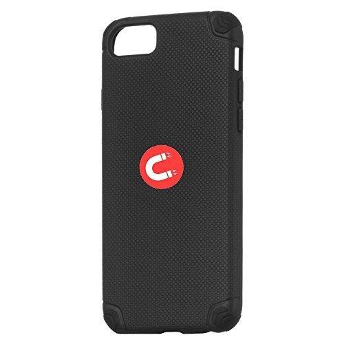 cofi1453 Hülle Magnet Handy Schutzhülle kompatibel mit Google Pixel 2 XL eingebaute Magnetplatte Ultra Slim Hard Case Handyhülle mit KFZ Halter Autohalterung Schwarz