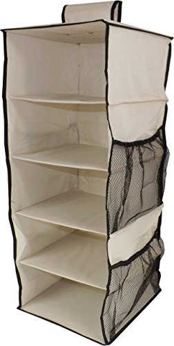 neusu-heavy-duty-hanging-shelves-wardrobe-organiser-5-shelves-plus-4-side-pockets-strong-600d-fabric