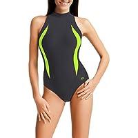 Gwinner Damen Sportbadeanzug - Geeignet Für Freizeit Und Sport - Ideale Passform - Beständig Gegen UV Und Chlor -Made In EU #Olivia
