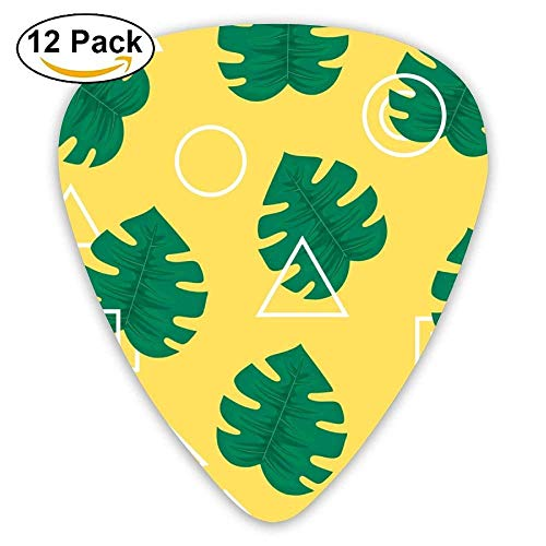 Abstract Modern Trendy Style Hipster Guitar Picks For Electric Guitar 12 Pack