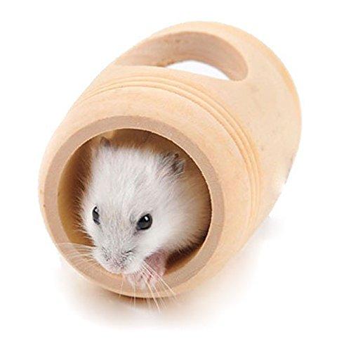 Weimay Natural de madera de hámster ratón túnel del tubo de juguete para animales pequeños, masticar juguete de hámsteres, conejillos de indias y conejos 1 piece