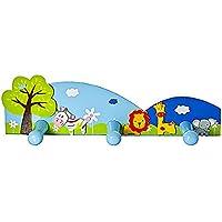 Ganchos para abrigos niños para abrigos de pared con temática de safari para la habitación de niños y niñas