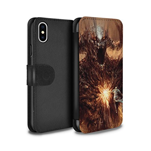 Offiziell Chris Cold PU-Leder Hülle/Case/Tasche/Cover für Apple iPhone X/10 / Vampirfledermaus Muster / Wilden Kreaturen Kollektion Herzensucher