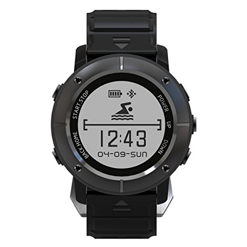 Makibes UPG06 GPS Sports Watch Multiple Sports Smart watch GPS Tracker  Triple Positioning Heart Rate monitor Bluetooth Aiwako BT4 2 Compass  Atimeter