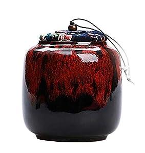 [Gradient Rouge] Boîte à thé en céramique Boîtes à café Spice Jar Tea Caddy