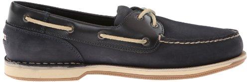 Nubuck Azul Marino De Rockport Cuero Zapatos Los Hombre Del Barco Perth 8Uqvq1