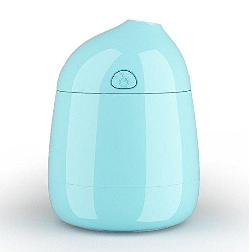 myqyiyi Mini Macaron LED Luftbefeuchter Air Diffusor Luftreiniger Atomizer blau (Tragbare Mini-wasser-heizung)