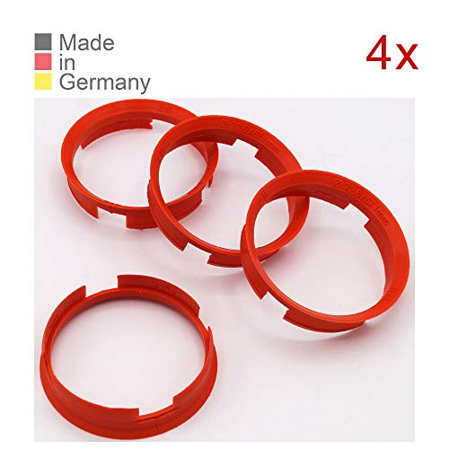 KONIKON 4X Zentrierringe 72,6 x 67,1 mm Orange Felgen Ringe Radnaben Zentrierring Adapterring Ring Felgenring Distanzring Made in Germany