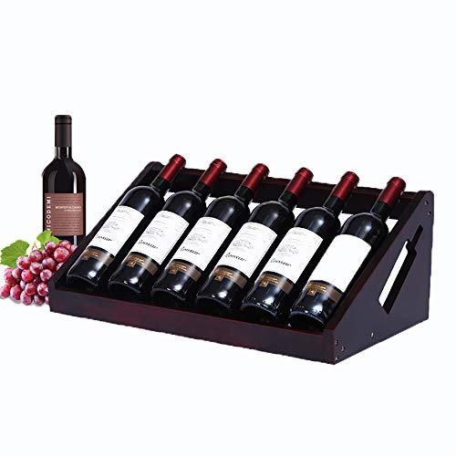 LXDDP Holz Arbeitsplatte Weinregal - Freistehendes Weinregal - Weinflaschenhalter für Haus, Bar, Küche (6 Flaschenregal) (Bar-arbeitsplatten Holz)