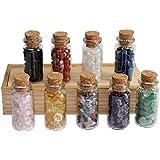 Adminitto88 Caja de madera de botella de corcho mini botella de corcho botella de cristal gema