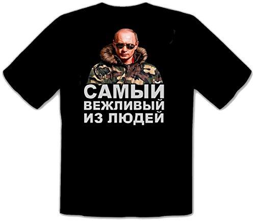 T-shirt Poutine Russie, Le plus poli d'entre tous Путин Самый 251 - - XXL