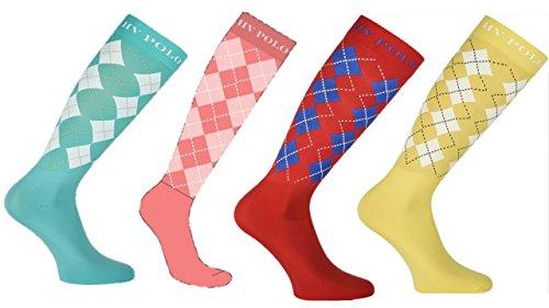 HV Polo Socken für Stiefel Argyle , Farbe:Navy -