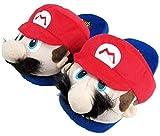 thematys Super Mario & Luigi Plüsch Haus-Schuhe - kuschelig warm für Zuhause - Lustige Pantoffeln für Erwachsene & Kinder - Unisex Größe 36-45 (Mario)