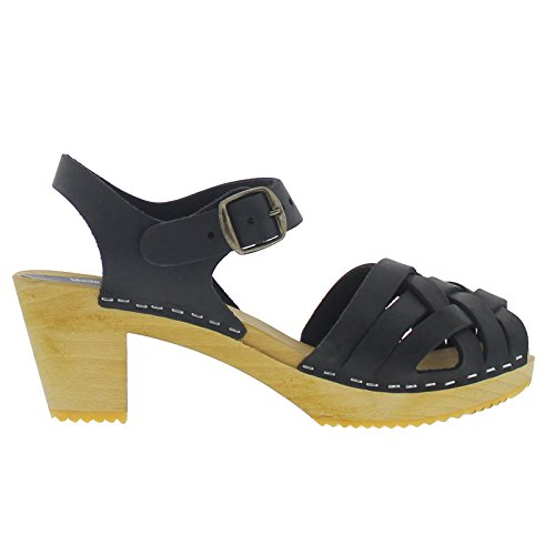 Moheda Womens Betty Nubuck Leather Sandals Black