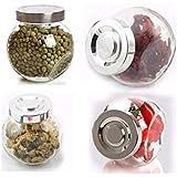 Ikea 4 Pack Rajtan Spice Jars Set, Glass, Aluminum Color Lid