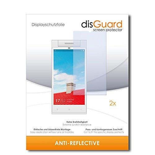 disGuard® Bildschirmschutzfolie [Anti-Reflex] kompatibel mit Gionee Elife E7 Mini [2 Stück] Entspiegelnd, Matt, Antireflektierend, Extrem Kratzfest, Anti-Fingerabdruck - Panzerglas Folie, Schutzfolie