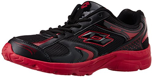 Lotto Men's Trojan Black And Red Mesh Running Shoes - 6 Uk/india (40 Eu)