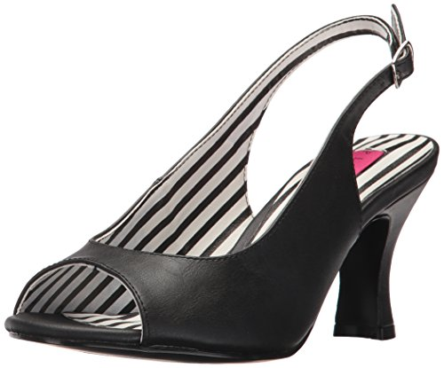 Pleaser Damen Kitten-02 Sling Backs, Schwarz(Blk Pat), 44 EU (11 UK)