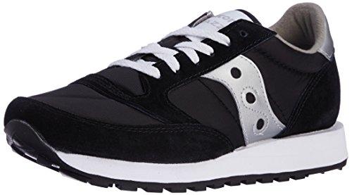 Saucony - Saucony Jazz Original Men, Sneaker Uomo, Nero (Black/Silver), 45 (Nylon Mens Sneakers)