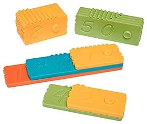 Newmero briques - Jouet Éducatif pour les garçons et filles 3 4 5 6 7 8 9 ans - STEM jouet (57 pièces)