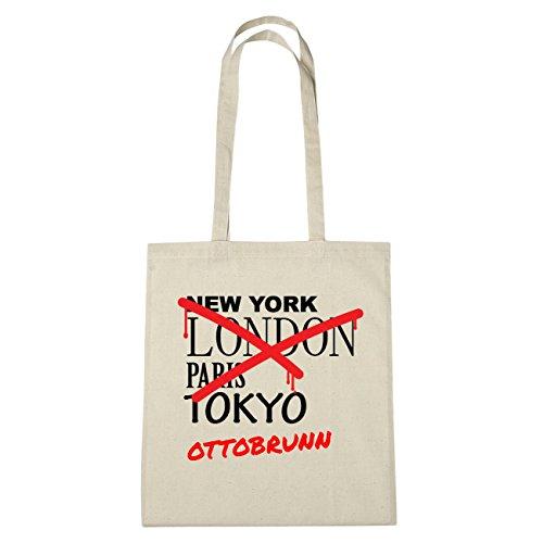 JOllify Otto Brunn di cotone felpato B1601 schwarz: New York, London, Paris, Tokyo natur: Graffiti Streetart New York