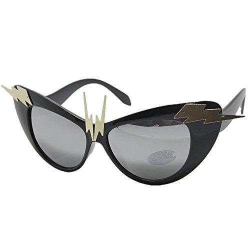 Yiph-Sunglass Sonnenbrillen Mode Damen Sonnenbrillen Rock-and-Roll-Stil handgefertigte Damen Metall Dekoration Sonnenbrille UV-Schutz Sommer Urlaub Strand Sonnenbrille -