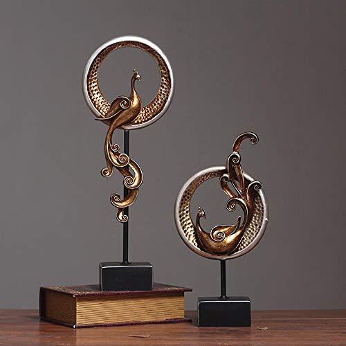 Skulptur harz phoenix dekoration, statue kunst handwerk wohnzimmer schlafzimmer weinschrank heimtextilien geschenke (Phoenix-skulptur)