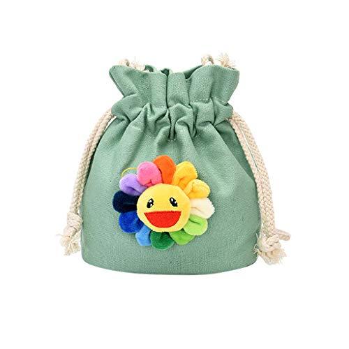 Damen Umhängetasche Shoulder Bag Handtasche Schultertasche Satchel Schulter handbag Rucksack, Segeltuch Sun-Schnur-Geldbeutel-beiläufige Eimer-Tasche
