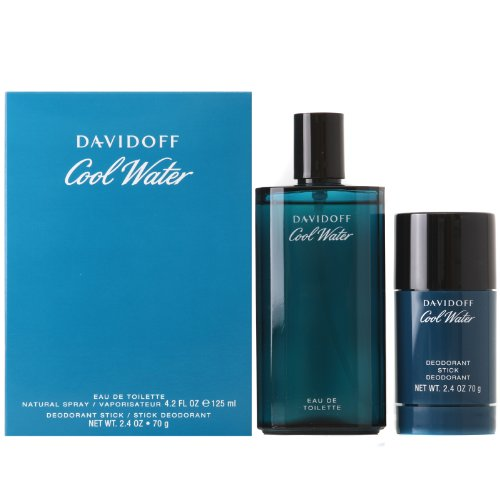 Davidoff Cool Water Geschenkset 125ml EDT + 70g Deodorant Stick - Cool Water Deodorant Eau De Toilette