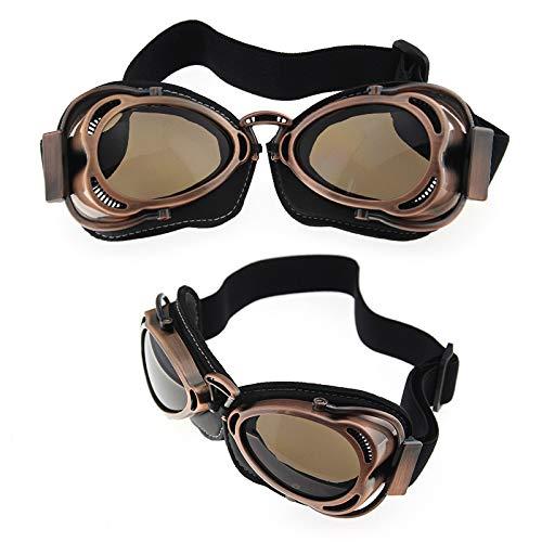 Sport Harley Brille Retro-Motorrad-Reitbrille Windschutzscheibe wie abgebildet