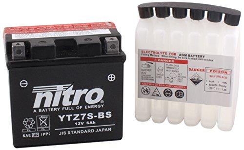NITRO YTZ7S-BS-Batteria Moto-N-AGM aperto con acido
