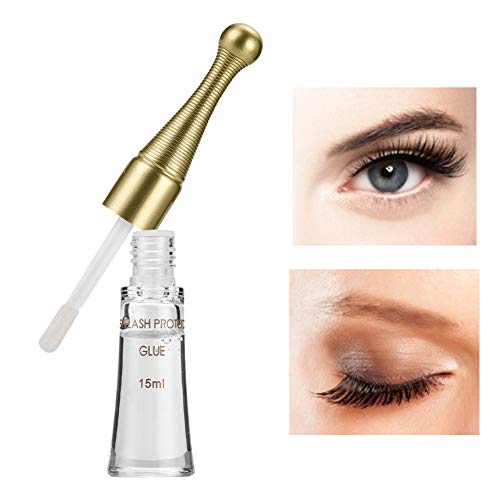 Rosvola Eyelash Curling Glue, Wimperncreme für Wimpernverlängerung, falsche Wimpern, Nerzwimpern(Transparent) (Wimpernverlängerung Lockenwickler)