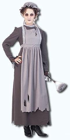 Elsa das Geister Zimmermädchen Kostüm Small (Graue Geist Kostüm)