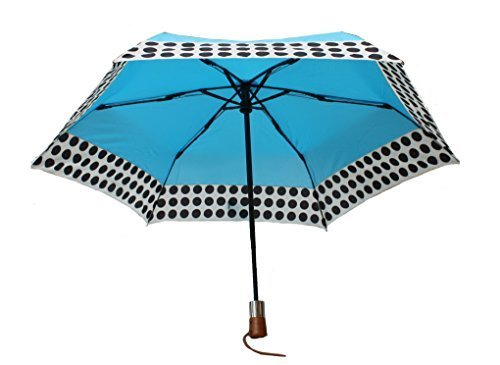 shedrain-ultimate-umbrella-44-arc-auto-open-close-wood-handle-blue-w-polka-dots-by-shed-rain