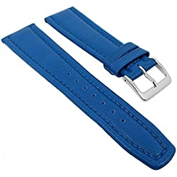 Graf Manufaktur Montana Replacement Band Watch Band Nappa Strap blue 26358S, width:17mm