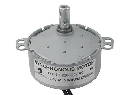 TYC-50 Moteur synchrone 220V AC 0.8-1RPM CW/CCW Torque 10Kg.cm