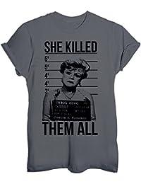 T-Shirt JESSICA FLETCHER HA UCCISO TUTTI FOTO SEGNALETICA