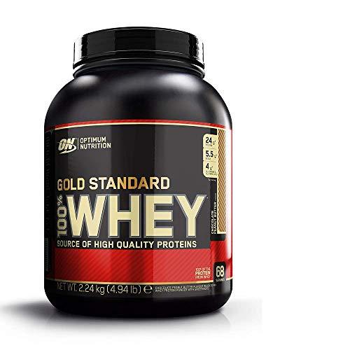 Optimum Nutrition Gold Standard Whey Eiweißpulver (mit Glutamin und Aminosäuren, Protein Shake von ON), Chocolate Peanut Butter Eiweiß, 68 Portionen, 2,24kg