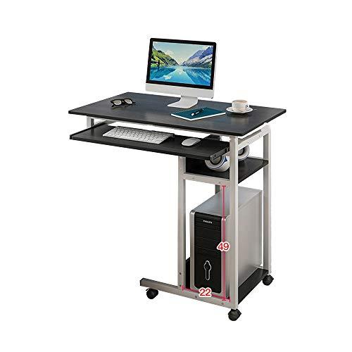 Bseack Tabelle Nachttisch, Twin City Stauraum mit Tastatur Fauler Multifunktionstisch Mobiler Betttisch Einfacher und moderner platzsparender Schreibtisch (Farbe : Schwarz) -
