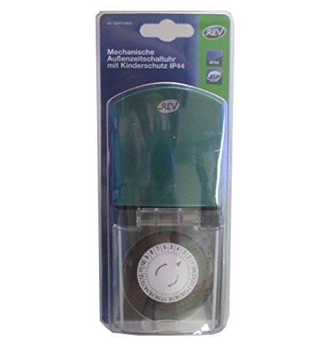0025710603 Z-Uhr mechanisch Tag IP44 prof., schwarz / grün