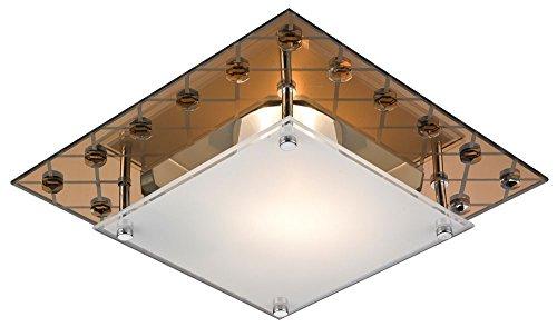 Kupfer-glas-lampe (Decken Lampe Leuchte Metall Glas Kupfer Design Spiegelglas IP20 Esto 48040)