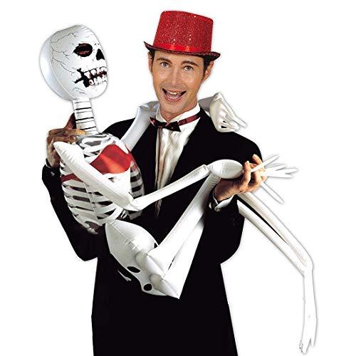 Skelett Aufblasbar ┃ 185 cm ┃ Dekoration ┃ Aufblasbar ┃ Halloween ┃ Kreatur ┃ Knochen ┃ Skeleton ()