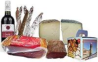 Ce coffret gourmand n°32 comprend: 1 Jambon Serrano moulé env. 1 kg, 1 filet de porc séché Font Sans env. 400 gr, 1 saucisson nature 250 gr, 1 fouet catalan nature 150 gr, 1 fouet catalan aux poivre 150 gr, 1 fouet catalan arome canard 150 gr, 1 foue...