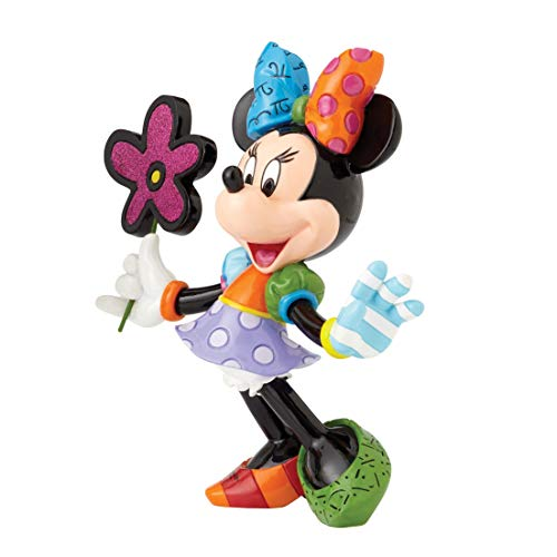 Disney Britto Collection Britto Minnie Mouse with Flowers Figurine, Resin, Multicolour, 21 x 8 x 21 cm -