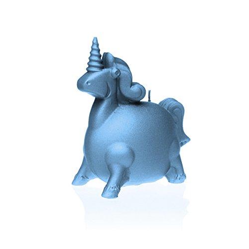 "'Vela ""Unicornio-Vela regalo Idea mesa decorativo 16x 8x 18cm azul claro"