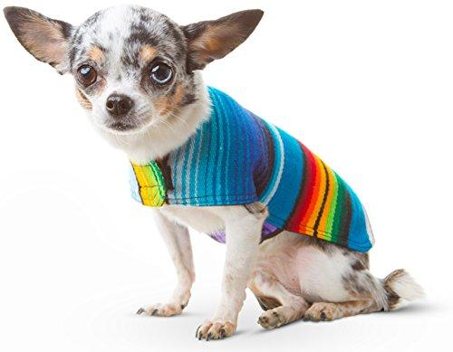 Handgefertigt Hund Poncho von Mexikanischen Sarape Decke-Hund Kleidung-Coat-Kostüm-Pullover-Weste, XXS, No Fringe (Billig Einzigartige Kostüme)