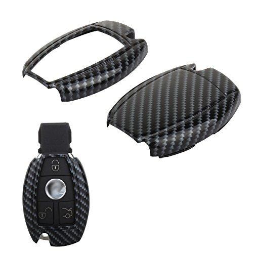 TOMALL Smart Télécommande Fob Shell Fibre de Carbone Motif Pour Mercedes-Benz C E S CLS CLK GLK ML GL Classe