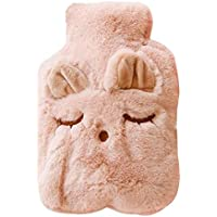 Preisvergleich für Wärmflasche mit Bezug,Wisolt Weichem Plüsch-Bezug,langlebig und sicher,0.75 Liter, BS1970:2012 zertifiziert